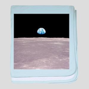 Apollo 11Earthrise baby blanket