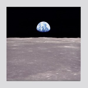 Apollo 11Earthrise Tile Coaster