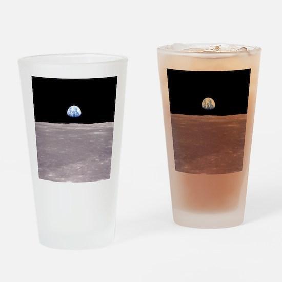 Apollo 11Earthrise Drinking Glass