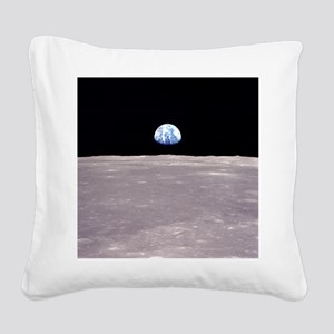Apollo 11Earthrise Square Canvas Pillow