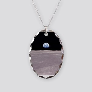 Apollo 11Earthrise Necklace Oval Charm