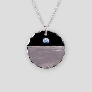 Apollo 11Earthrise Necklace Circle Charm