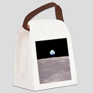 Apollo 11Earthrise Canvas Lunch Bag