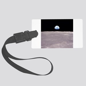 Apollo 11Earthrise Large Luggage Tag