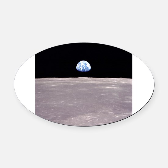 Apollo 11Earthrise Oval Car Magnet