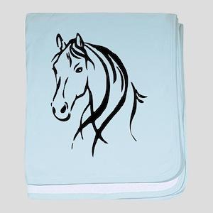 Horse Head baby blanket