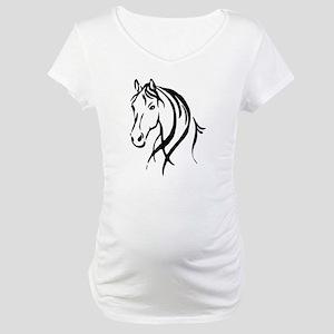 Horse Head Maternity T-Shirt