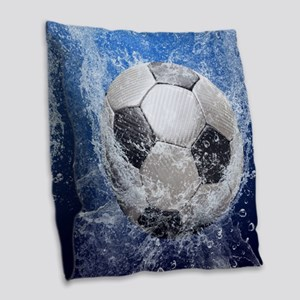 Ball Splash Burlap Throw Pillow