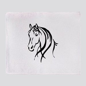 Horse Head Throw Blanket