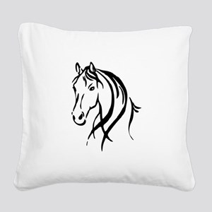 Horse Head Square Canvas Pillow