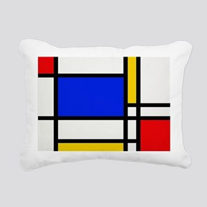 Mondrian-2a Rectangular Canvas Pillow