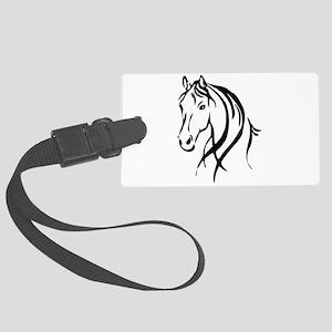 Horse Head Large Luggage Tag