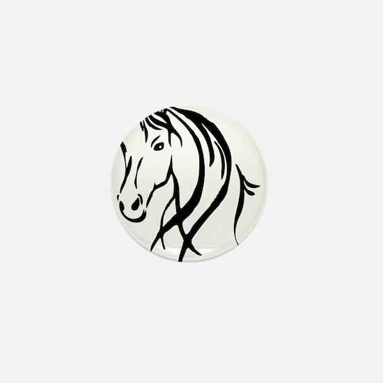 Horse Head Mini Button