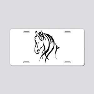 Horse Head Aluminum License Plate