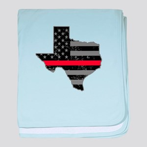 Texas Firefighter Thin Red Line baby blanket