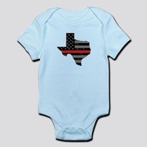 Texas Firefighter Thin Red Line Body Suit
