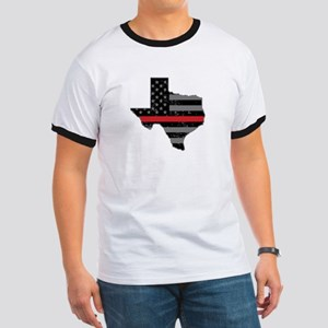 Texas Firefighter Thin Red Line T-Shirt