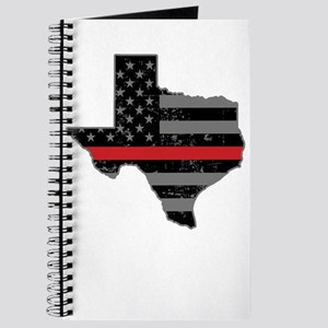 Texas Firefighter Thin Red Line Journal