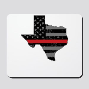 Texas Firefighter Thin Red Line Mousepad