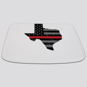 Texas Firefighter Thin Red Line Bathmat