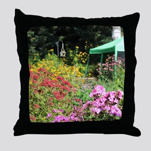In the Secret Gardens Throw Pillow
