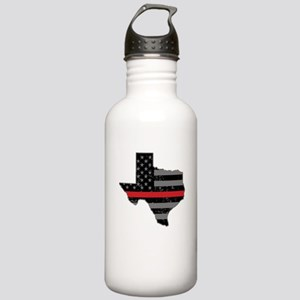 Texas Firefighter Thin Stainless Water Bottle 1.0L