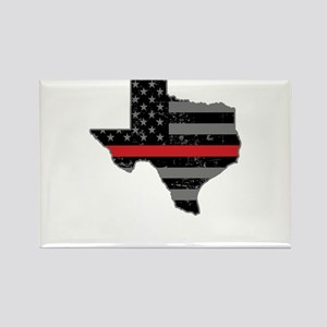 Texas Firefighter Thin Red Line Magnets