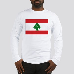 Lebanese Flag Long Sleeve T-Shirt