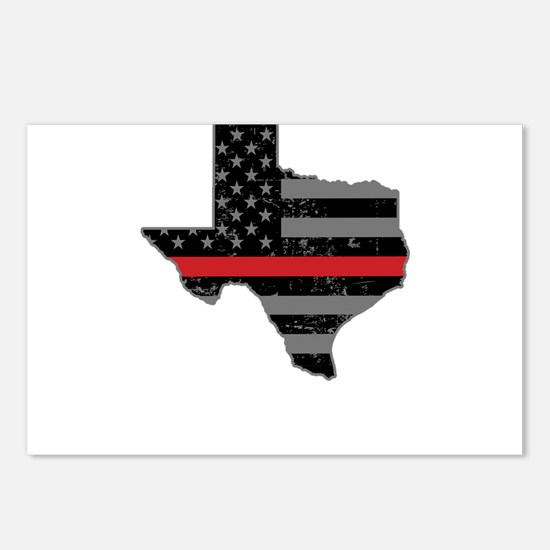 Texas Firefighter Thin Re Postcards (Package of 8)