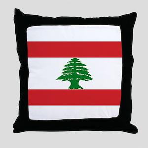 Lebanese Flag Throw Pillow