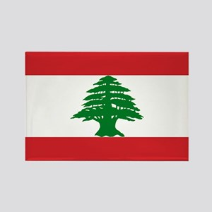 Lebanese Flag Rectangle Magnet