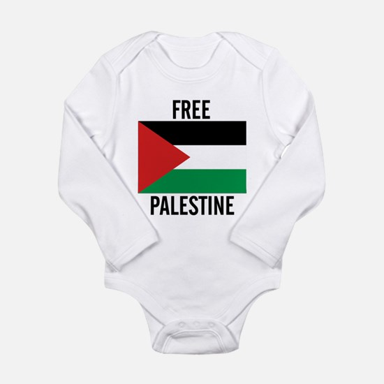Cute Free gaza Long Sleeve Infant Bodysuit