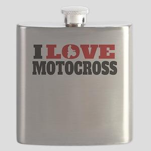 I Love Motocross Flask