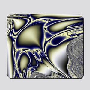 Silver Blue Sting Ray Fractal Mousepad