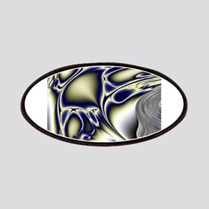 Silver Blue Sting Ray Fractal Patch