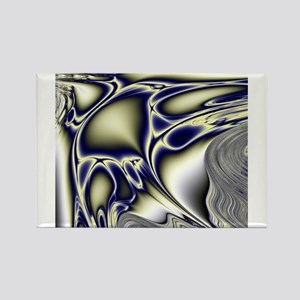 Silver Blue Sting Ray Fractal Magnets