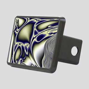 Silver Blue Sting Ray Frac Rectangular Hitch Cover