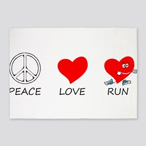 peace love 5'x7'Area Rug