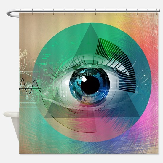All Seeing Eye Shower Curtain