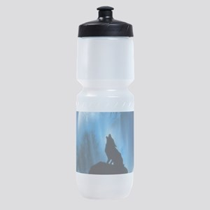 Wolf Howling At The Moon Sports Bottle
