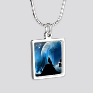 Wolf Howling At The Moon Necklaces