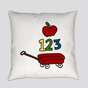 School Wagon Everyday Pillow