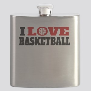 I Love Basketball Flask