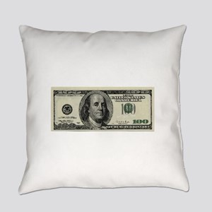 100 Dollar Bill Everyday Pillow
