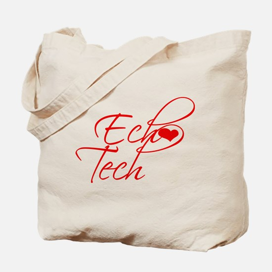 Cursive Ech(heart) Tech Tote Bag
