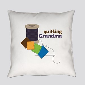 Quilting Grandma Everyday Pillow