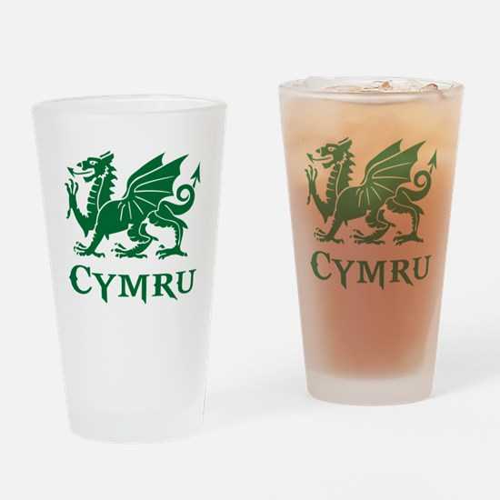 Cute Welsh dragon Drinking Glass