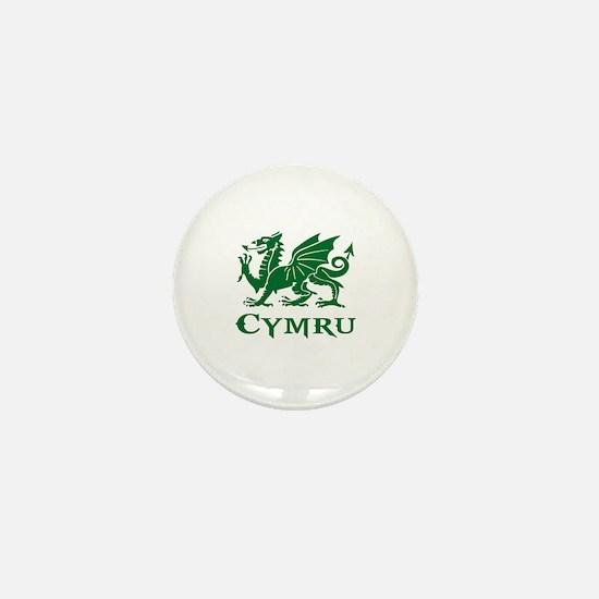 Cute Welsh dragon Mini Button