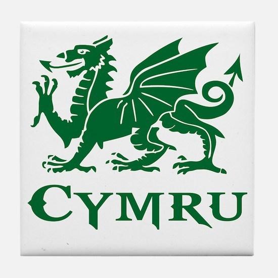Cute Wales Tile Coaster