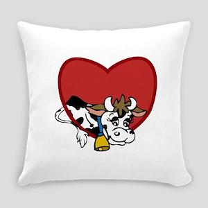 Cow Valentine Everyday Pillow